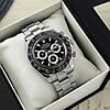 Часы мужские наручные механические с автоподзаводом Rolex Daytona Metal Silver-Black-Black реплика ААА класса, фото 4