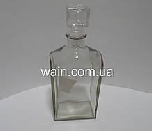 Стеклянная бутылка графин 500 мл с пробкой для хранения, подачи напитков Everglass Ампель