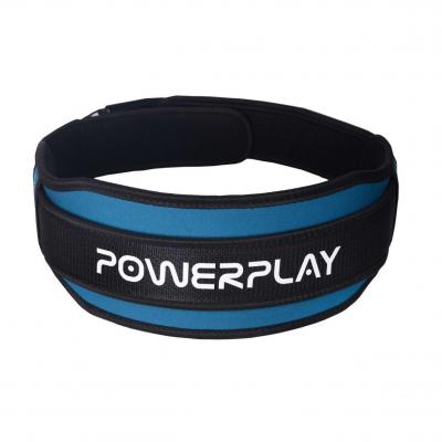Пояс для важкої атлетики Power System 5545 Синьо-Чорний, Неопрен S SKL24-143930