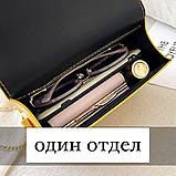 Женская классическая сумочка через плечо кросс-боди на цепочке белая, фото 6