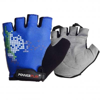 Велорукавички PowerPlay 002 D Сині M SKL24-144218