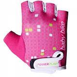 Велорукавички PowerPlay 5451 Рожево-білі 2XS SKL24-144223, фото 2