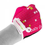 Велорукавички PowerPlay 5451 Рожево-білі 2XS SKL24-144223, фото 4