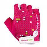 Велорукавички PowerPlay 5451 Рожево-білі 2XS SKL24-144223, фото 6
