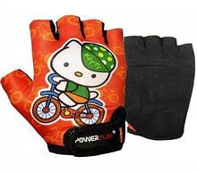 Велорукавички PowerPlay 5473 Kitty Помаранчеві 3XS SKL24-144241
