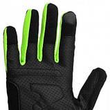 Рукавички для кроссфіту PowerPlay Hit Full Finger Чорно-Зелені M SKL24-144245, фото 3