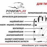 Рукавички для кроссфіту PowerPlay Hit Full Finger Чорно-Зелені M SKL24-144245, фото 5