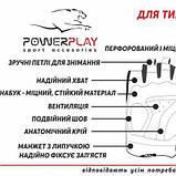 Рукавички для фітнесу PowerPlay 1733 В Чорно-Блакитні XS SKL24-144258, фото 5