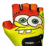 Велорукавички PowerPlay 5473 Sponge Bob жовто-помаранчеві XS SKL24-144271, фото 2