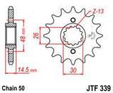 Звезда передняя с резиновой вставкой JT Sprockets JT JTF339.17RB, фото 2