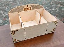 Небольшая коробка для свечей из фанеры 50×30см