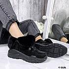 Зимние женские черные ботинки, натуральная кожа/замша, фото 5