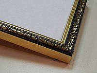 """Рамка А4(210х297) Фоторамка .""""Яркое золото с орнаментом"""""""