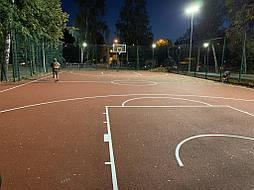 Двухслойное покрытие для баскетбольной площадки г. Харьков 1