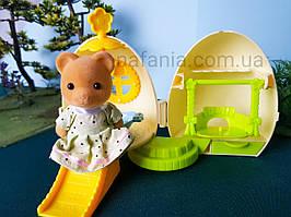 Флоксовый ведмедик + будиночок яйце, трансформер, (аналог Sylvanian Families)