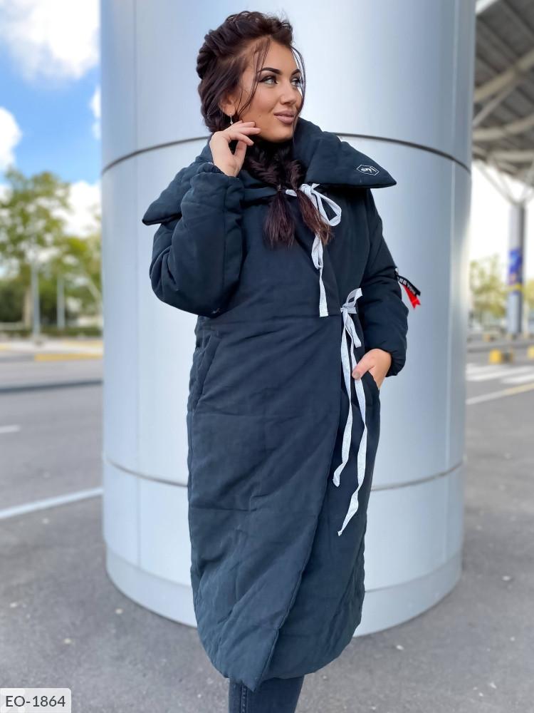 Куртка на завязках в больших размерах в расцветках (DG-с 498/1)
