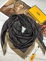 Шерстяной платок палантин Fendi Фенди тоненькая шерсть ТОП
