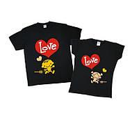 Комплект парных футболок для пары, семьи.