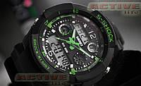 Мужские спортивные часы  S-Shock Skmei / 0931/ (green) (+ВІДЕО)