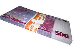 """Деньги сувенирные """"500 ЕВРО"""""""