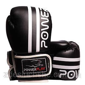 Боксерські рукавиці PowerPlay 3010 Чорно-Білі 12 унцій SKL24-144000