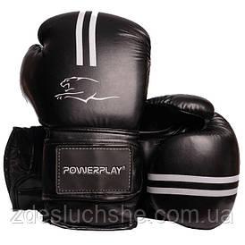 Боксерські рукавиці PowerPlay 3016 Чорно-Білі 8 унцій SKL24-143755