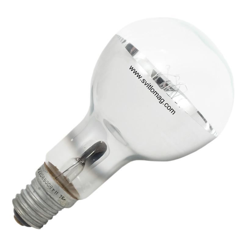 Лампа накаливания зеркальная ЗШ 220-500 E40