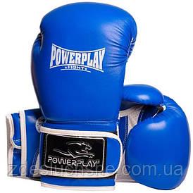Боксерські рукавиці PowerPlay 3019 Сині 14 унцій SKL24-144175