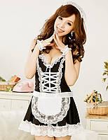 Эротический игровой костюм горничной Dear Lover Черный S/M/L, фото 1