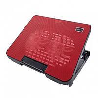 Охлаждающая подставка для ноутбуков Notebook Cooling Pad N99 Чёрный с красным