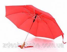 Зонт с деревянной ручкой голова утки, красный SKL32-218576