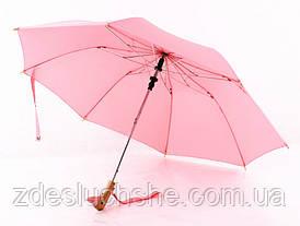 Зонт с деревянной ручкой голова утки, розовый SKL32-218575
