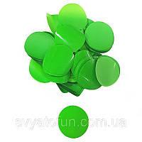Конфетти Кружочки 35мм зеленый 50г