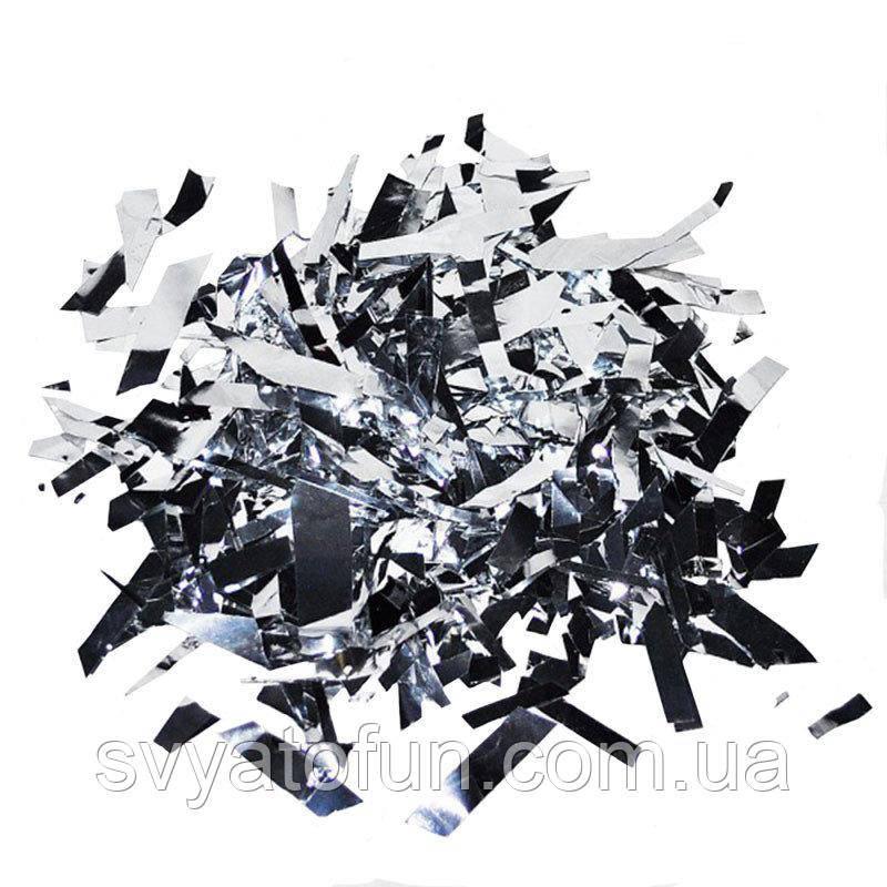 Конфетти Мишура серебро 250г