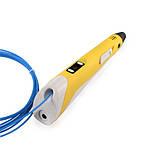 3Д Ручка 3D Air Pen LED дисплей 2 поколения MyRiwell с подставкой пластиком для объёмных моделей Желтая, фото 6