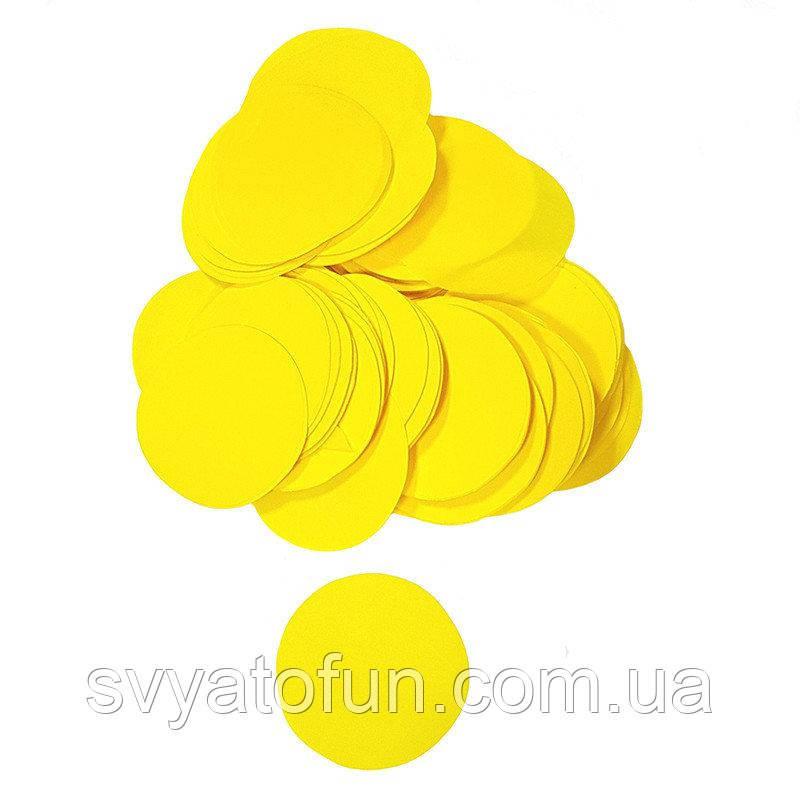 Конфетти Кружочки 23мм желтый 250г