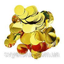Конфетти Кружочки 35мм золото 50г