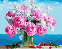 "Картина по номерам. Rainbow Art ""Букет пионов в вазе"" GX34494-RA"