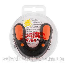 Капа боксерская PowerPlay SR оранжево-черная lemon 3315 SKL24-190121