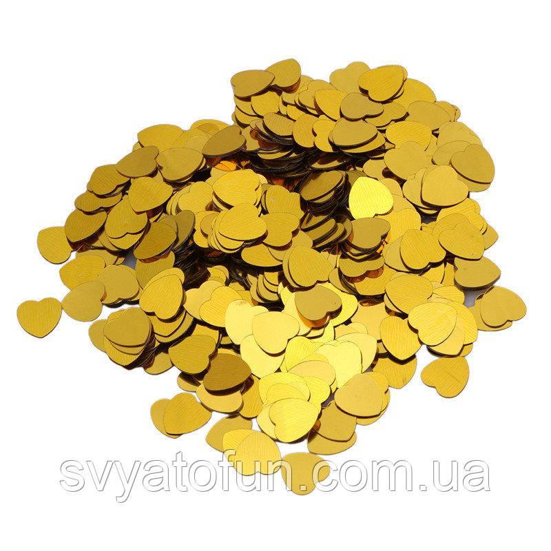 Конфетти Сердечки 35мм золото 250г