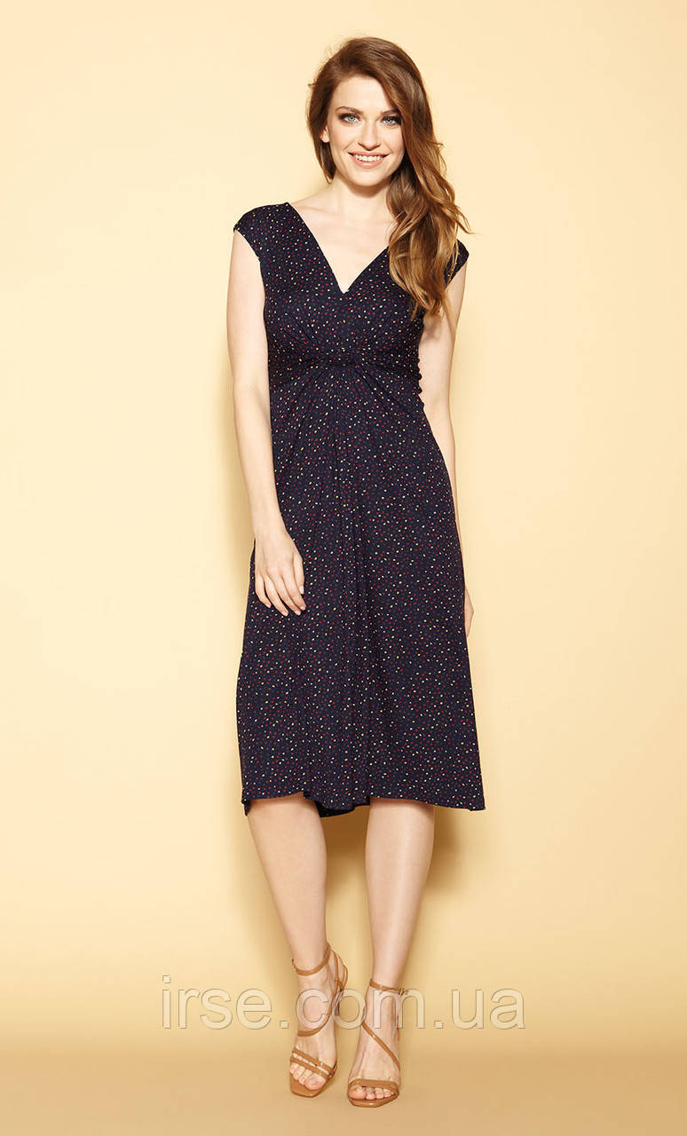 Zaps платье Hazal темно-синего цвета, коллекция весна-лето 2021.