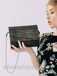 Сумка жіноча Amberwood Cora чорне дерево SKL61-261258