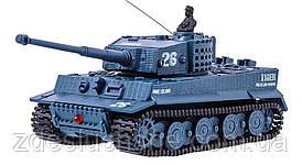 Танк микро Great Wall Toys Tiger на радиоуправлении, масштаб 1к72 со звуком, серый SKL17-139915