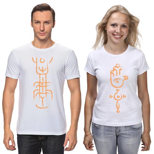 """Парні футболки з принтом """"Forever"""" Push IT S, Білий"""