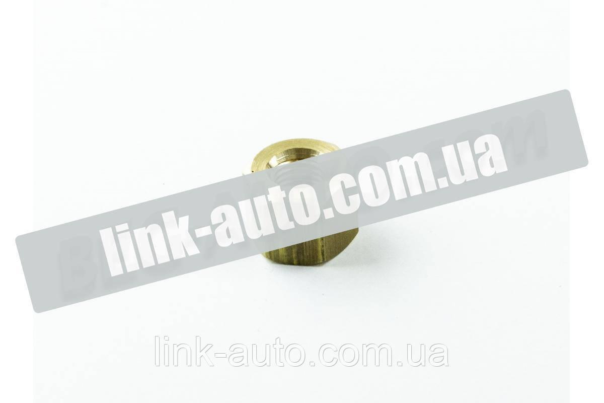 Гайка КАМАЗ колектора латунь усиленая М10*1,25