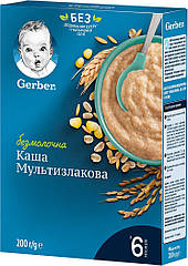 Безмолочна мультизлакова каша Gerber® з 6 міс 240 гр