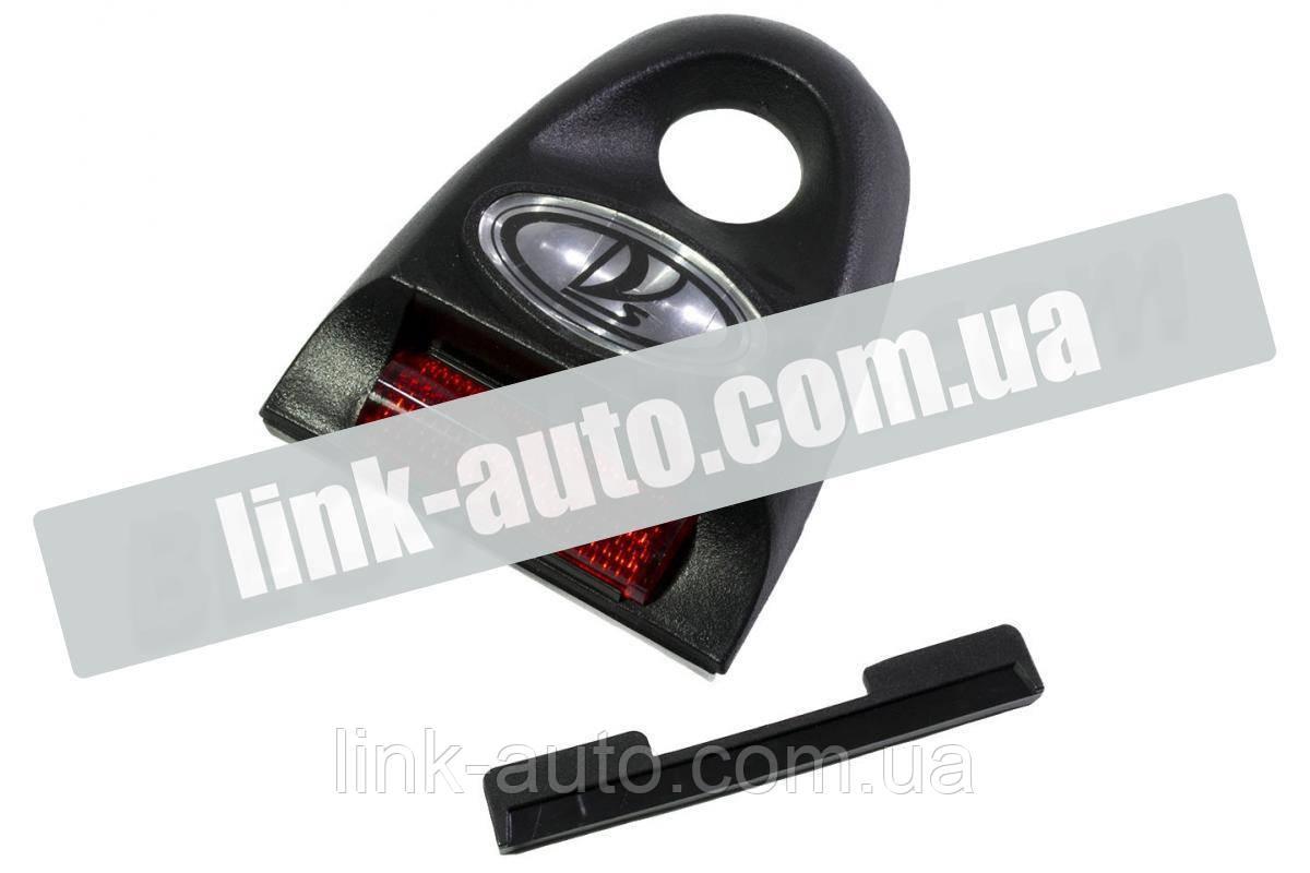 Накладка замка багажника 2108 (эмблема ассорти) с катафотом Bagis
