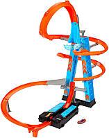 Моторизированный трек Хот Вилс Небоскреб Падение с башни Hot Wheels Sky Crash Tower (GJM76)