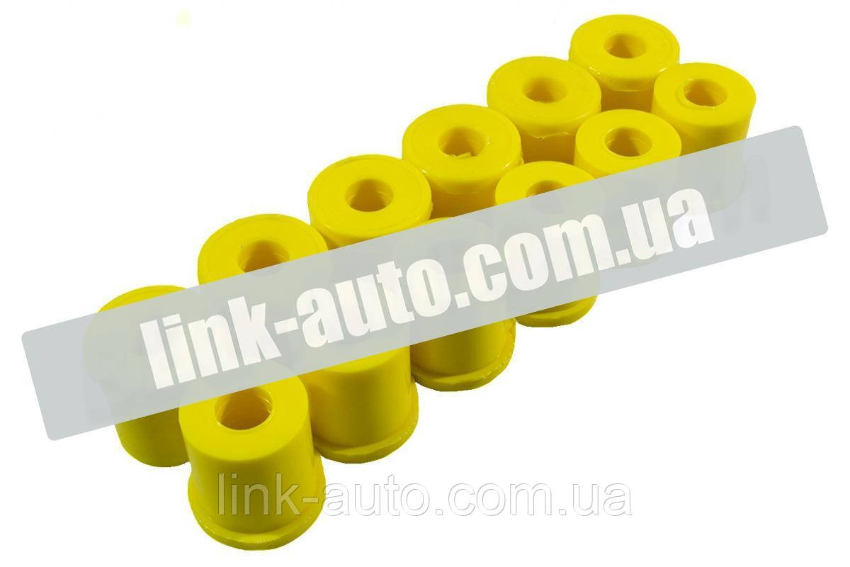 Втулка рессорная 2410 (к-т 12шт) полиуретан желт