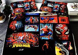 """Детское постельное белье бязь""""Gold""""Ранфорс""""Человек Паук/Спайдер мен/Spider Man"""""""